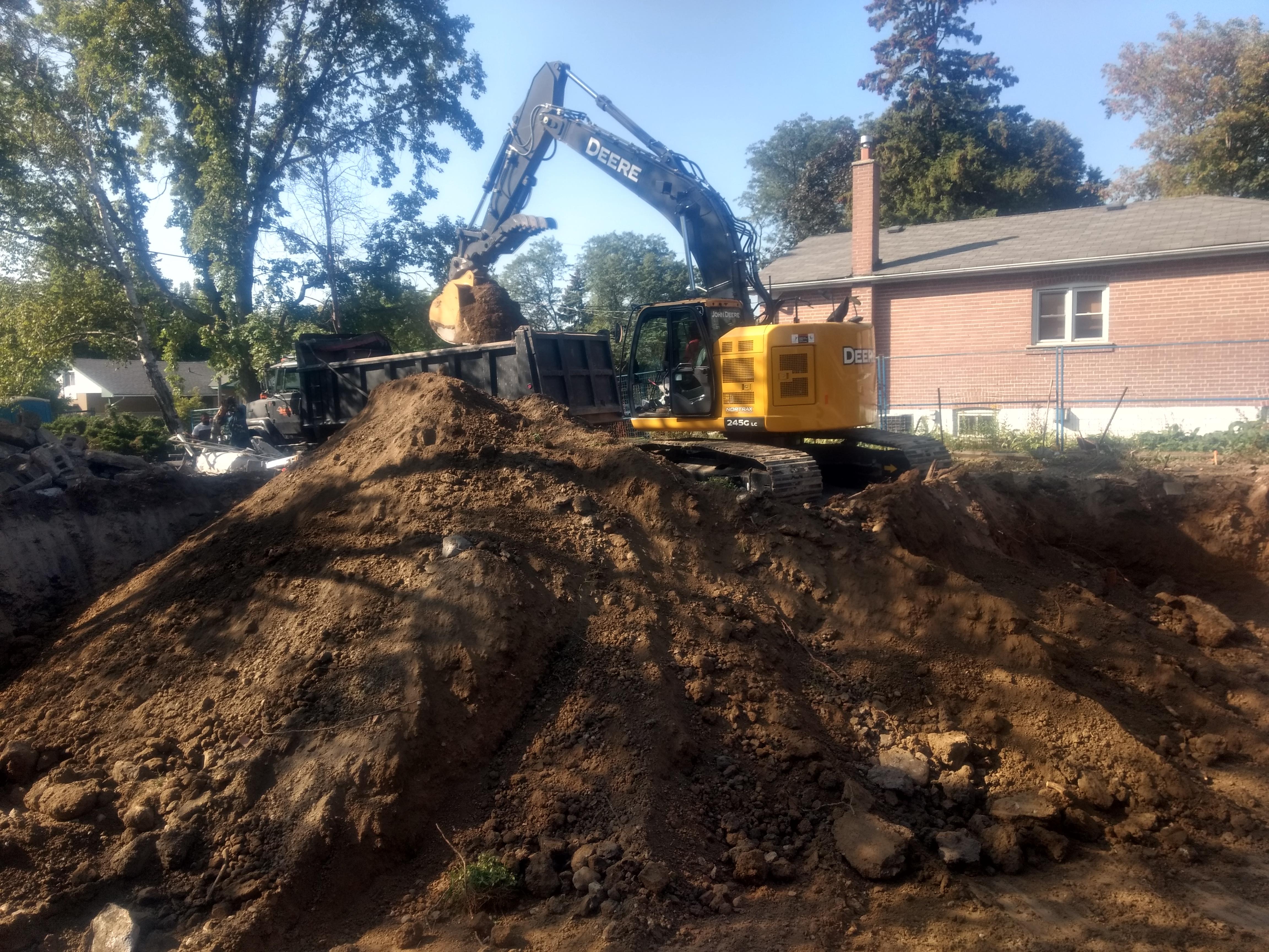 Demolition in Richmond Hill